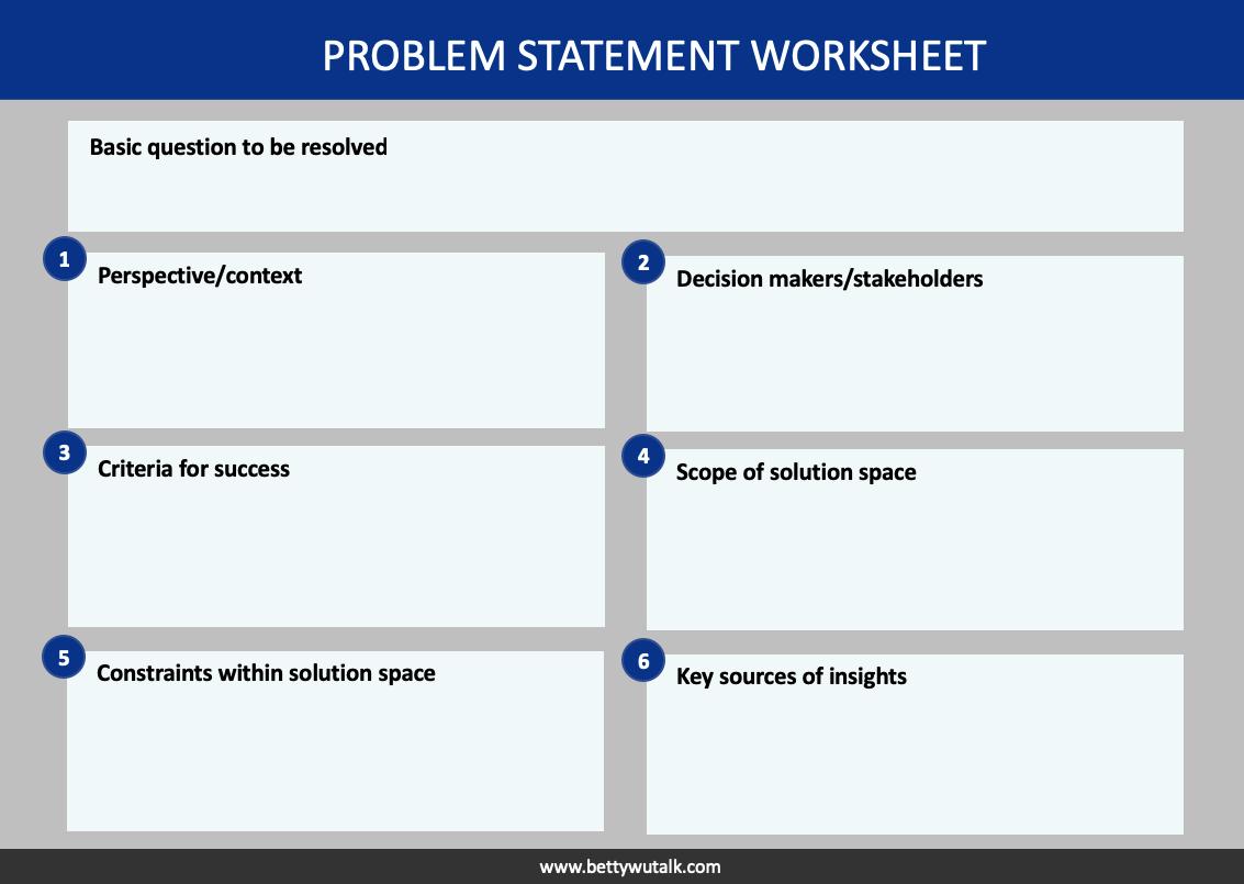 Problem statement worksheet